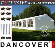 Marquees Plus 6x12 m PVC white - Sale of Marquees