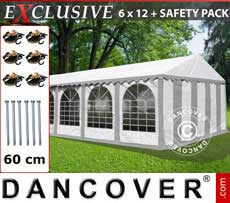 Marquees Plus 6x12 m PVC Grey/white - Sale of Marquees