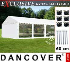 Marquees Plus 6x12 m PVC white PANORAMA - Sale of Marquees