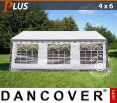 Marquees PLUS 4x6 m PE, grey/white - Sale of Marquees