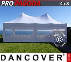 Marquees Plus 4x10 m PE, grey/white - Sale of Marquees