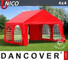 Marquees 6x6 m PVC, grey/white - Sale of Marquees