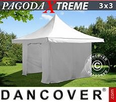 Marquees 6x8 m PVC Red/white - Sale of Marquees