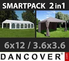 Marquees 6x10 m PVC grey/white - Sale of Marquees