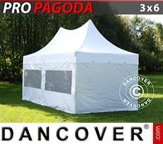 Marquees 6x10 m PVC Red/white - Sale of Marquees