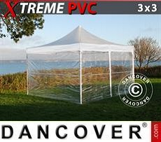 Marquees Semi PRO Plus 6x12 m PVC grey/white - Sale of Marquees