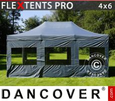 Marquees 6x12 m PVC Red/white - Sale of Marquees